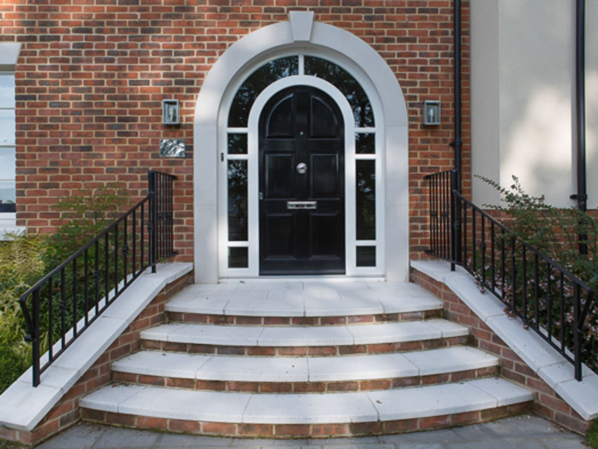 Steps and copings from bespoke cast stone