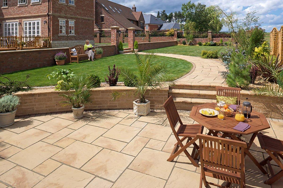 Heritage Riven Garden Paving - Yorkstone thumbnail image