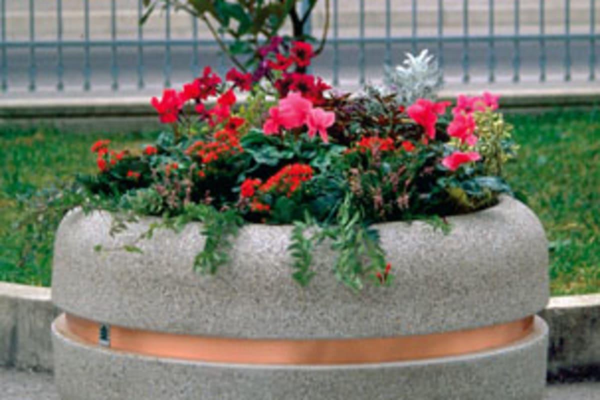bellitalia classica 1220 circular concrete planter
