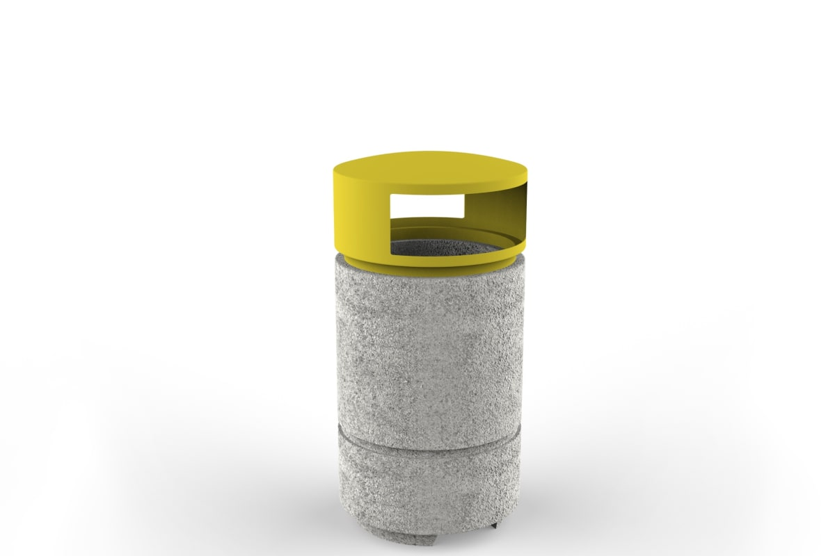 boulevard litter bin with lid