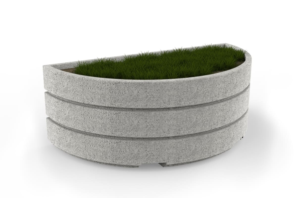 boulevard semi circular planter 2000mm