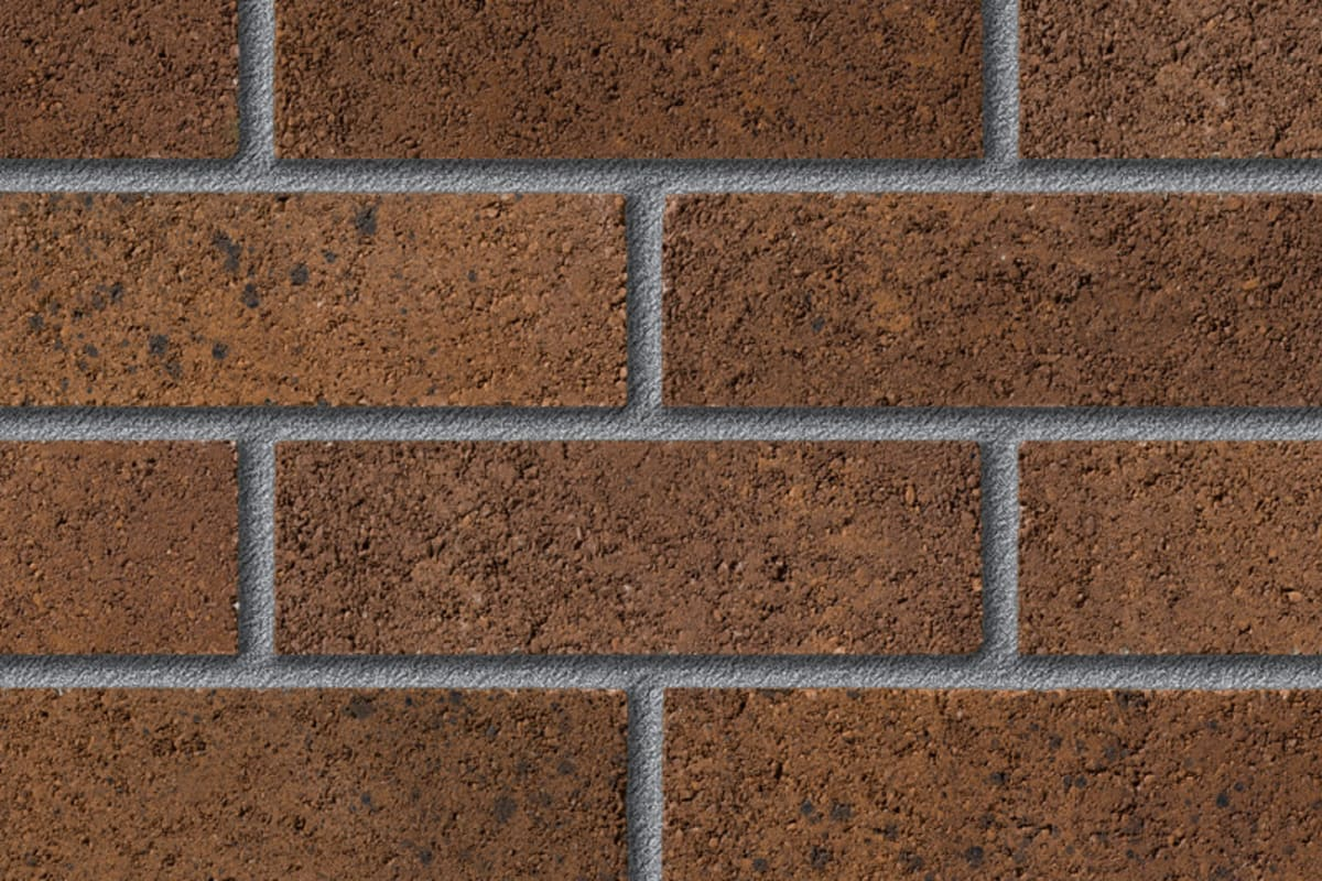fairway cleeve cedar perforated facing brick swatch panel