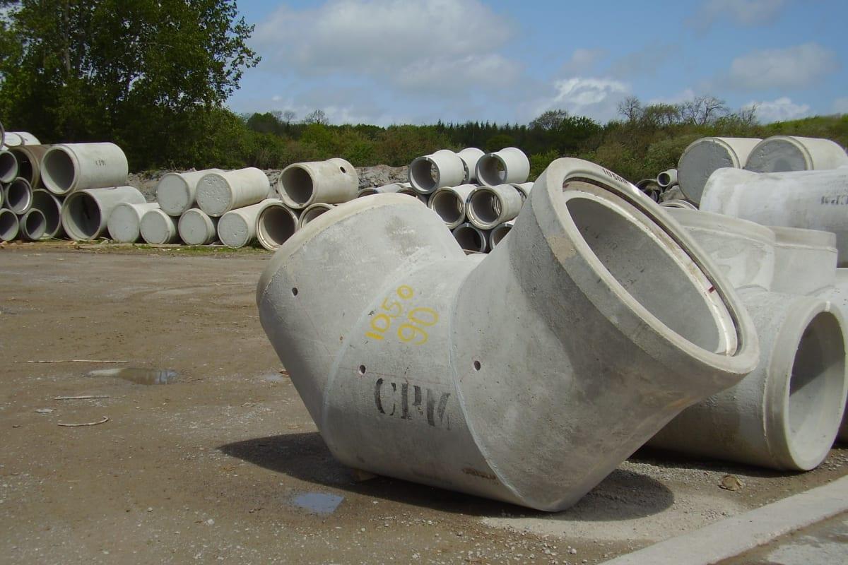 concrete pipe bends