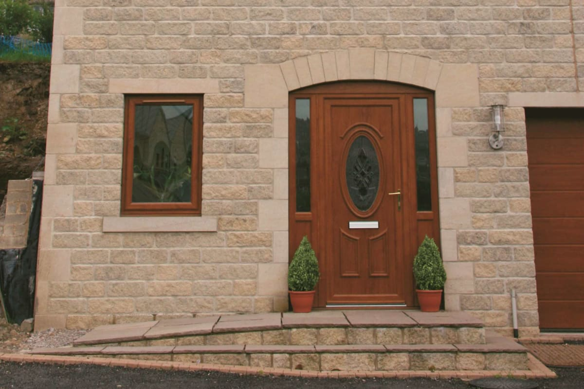cromwell rustic weathered reconstructed stone walling