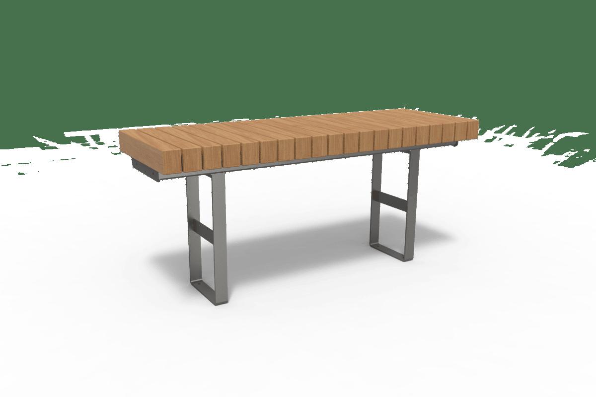 distrikt table aluminium grey ral9007