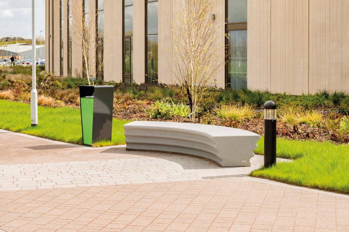 escofet hebi concrete bench