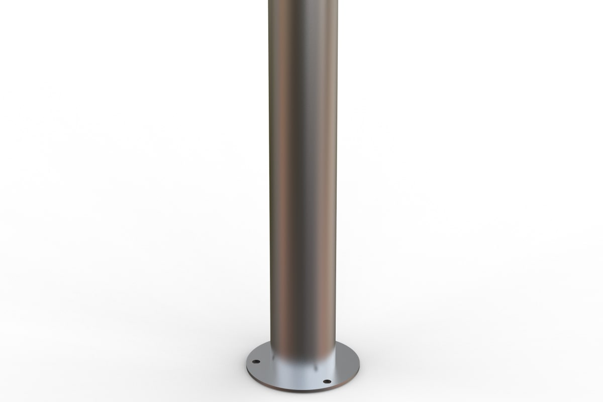 essentials 304 stainless steel flat top bollard - surface mount
