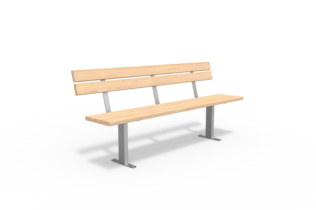 essentials 304 stainless steel & softwood timber seat