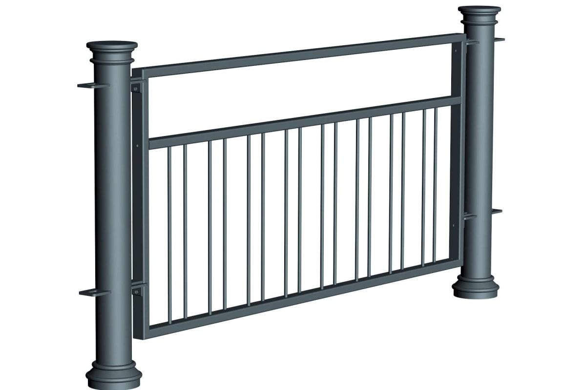 ferrocast chancellor 5 (pgr2) polyurethane pedestrian guard rail