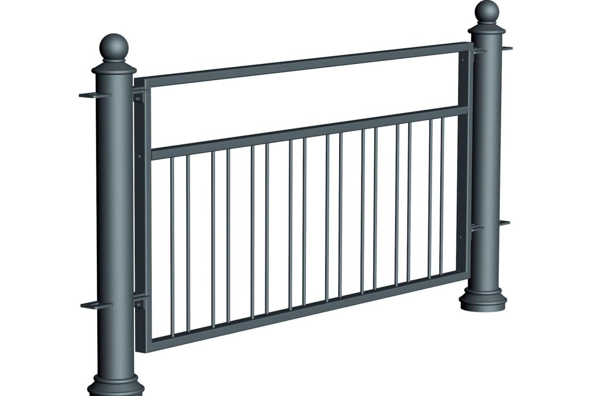 ferrocast court 5 (pgr2) polyurethane pedestrian guard rail