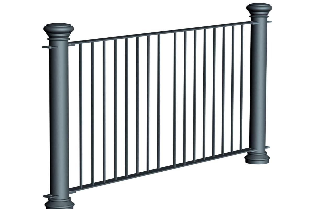 ferrocast regent 1 (hi vis) polyurethane pedestrian guard rail