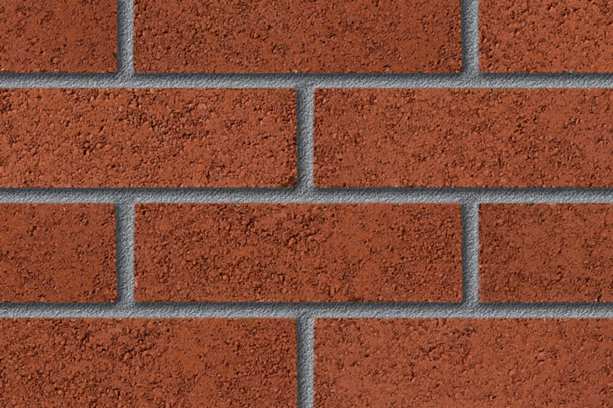 fairway filton red perforated facing brick swatch panel