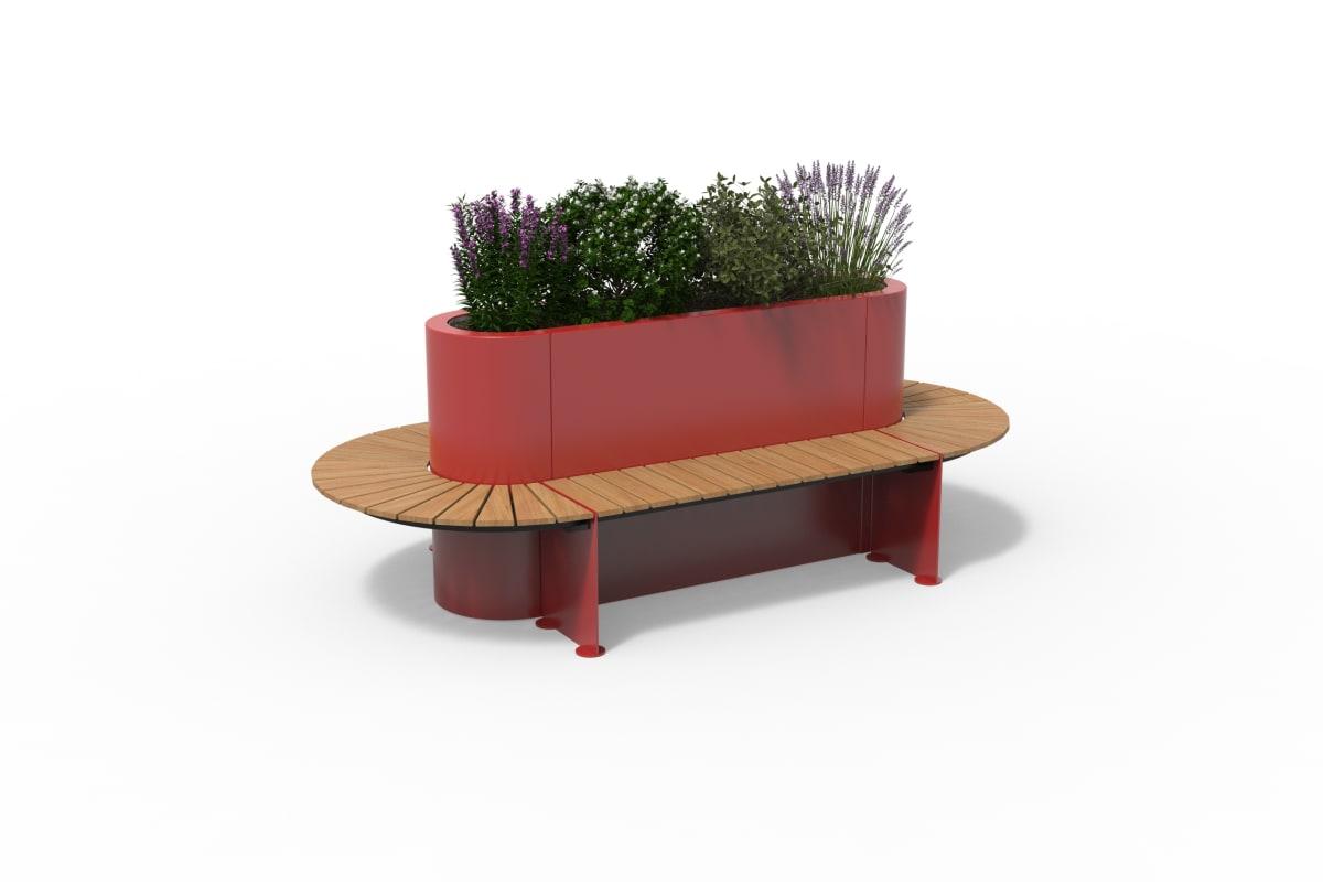 kirkos double planter seat