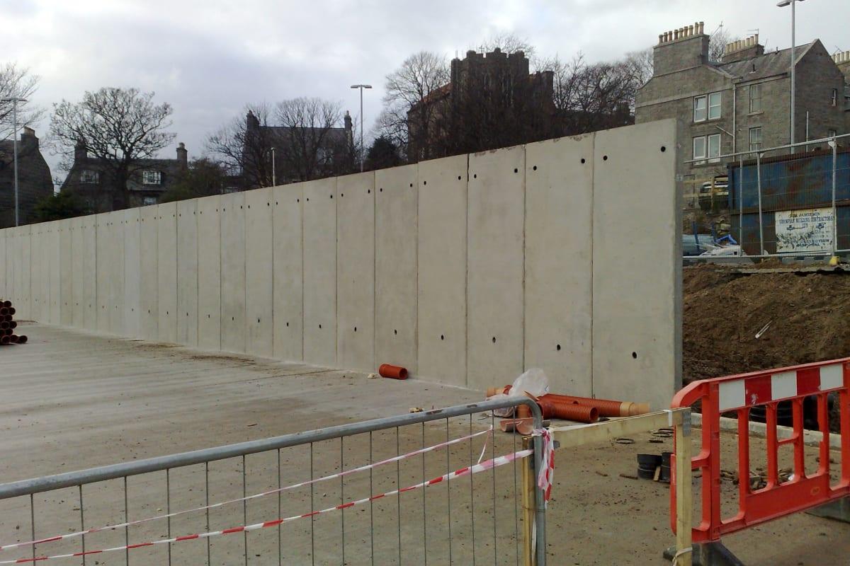 l shape wall bus depot scotland