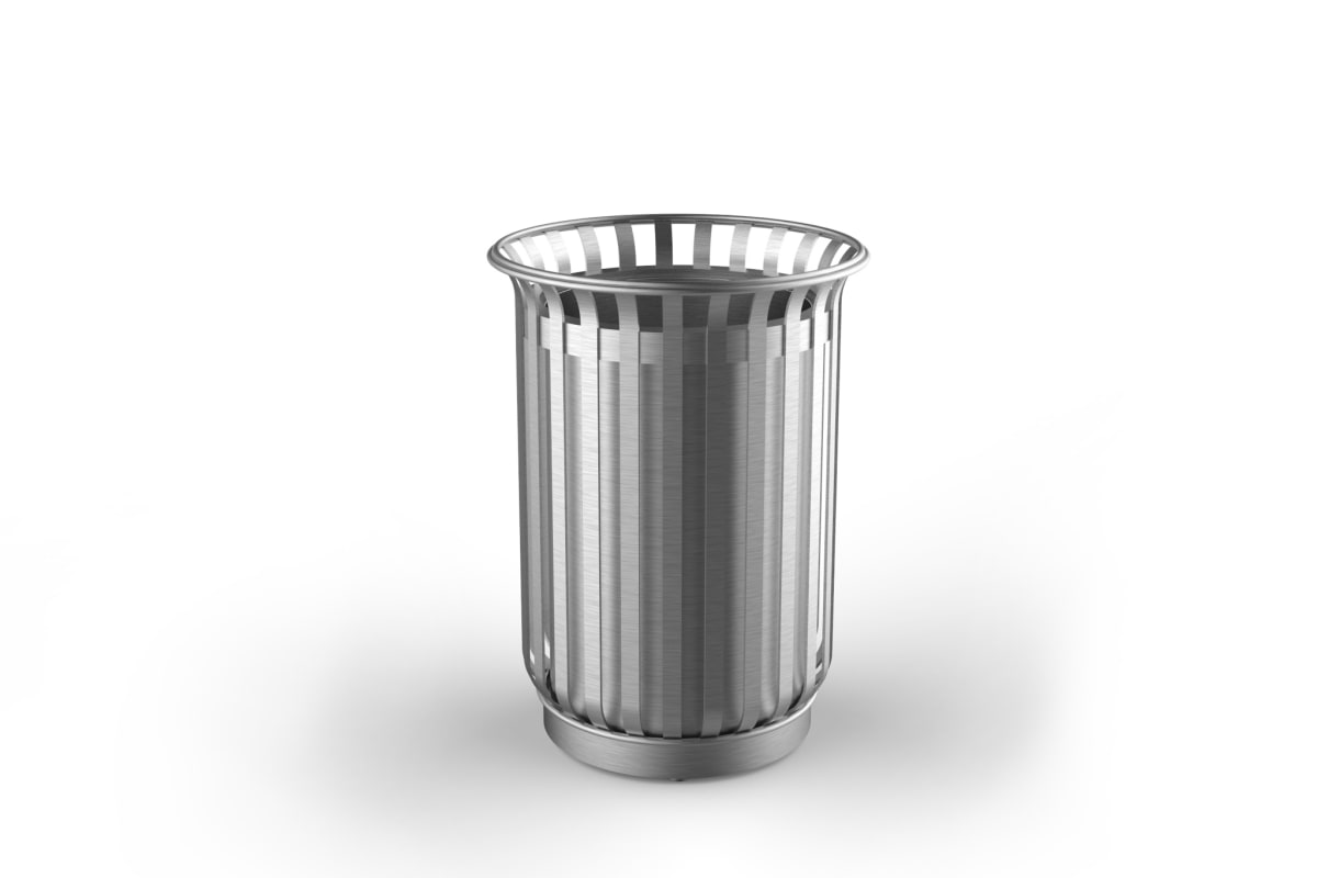 m3 110l litter bin stainless steel