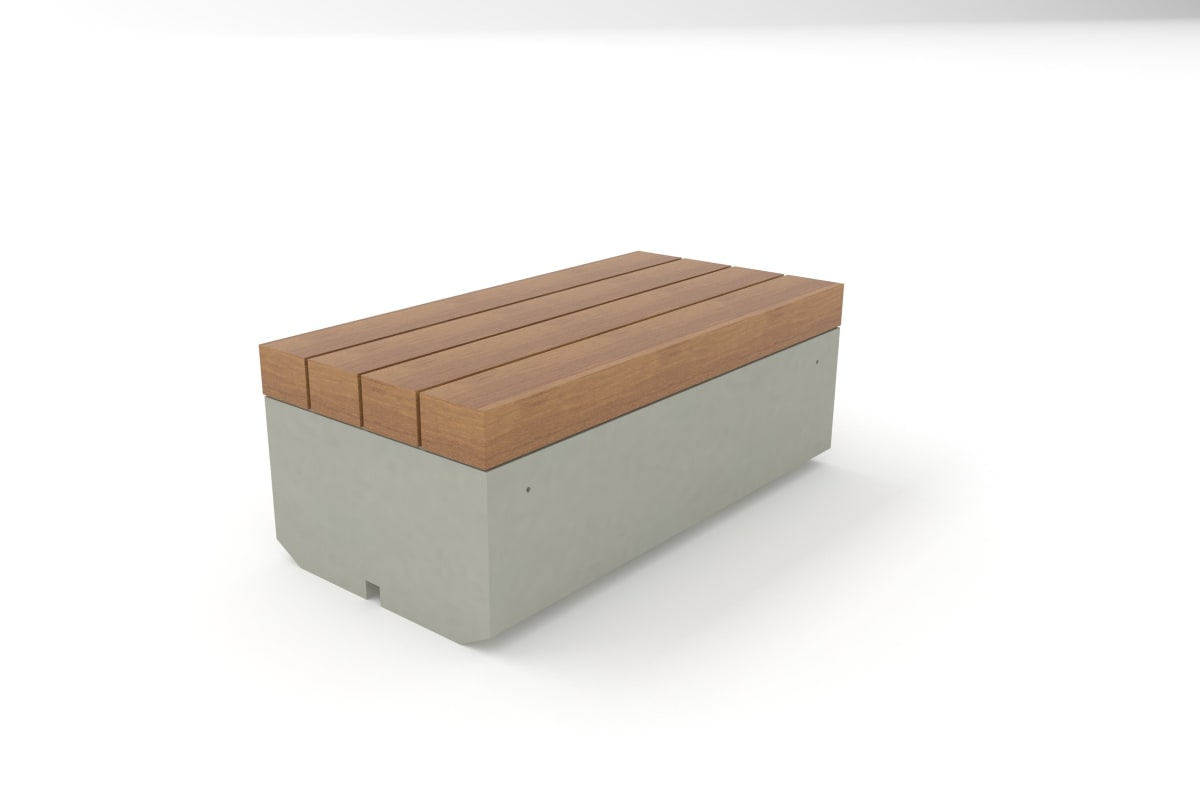 metrolinia bench with timber