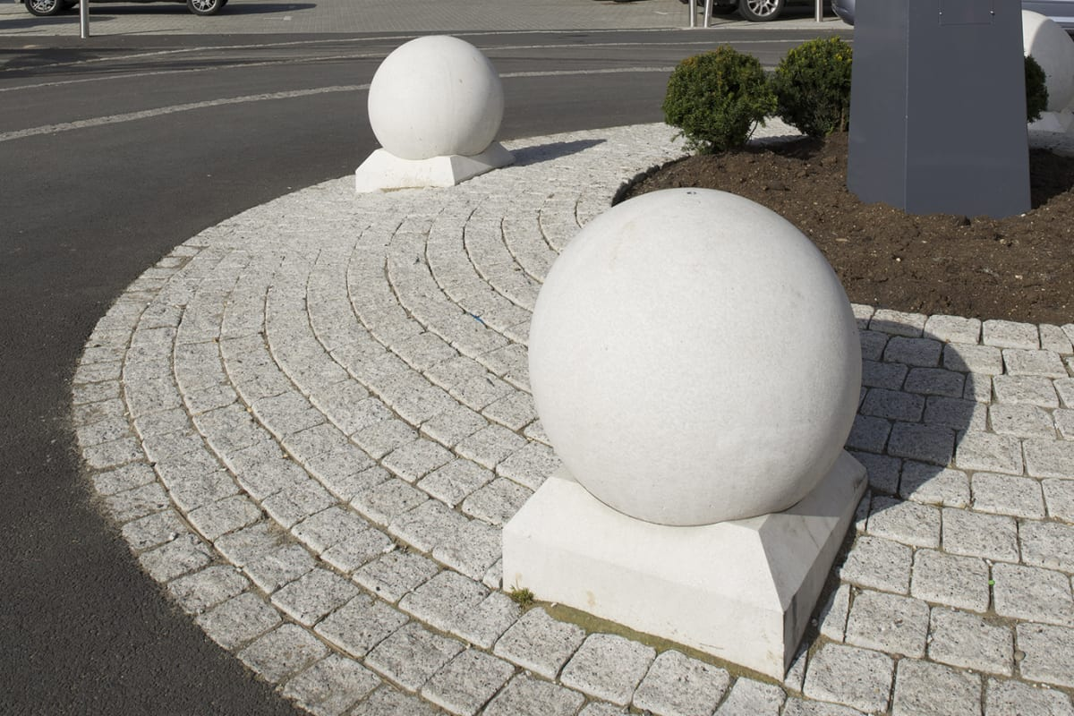 spherical 500 concrete bollard