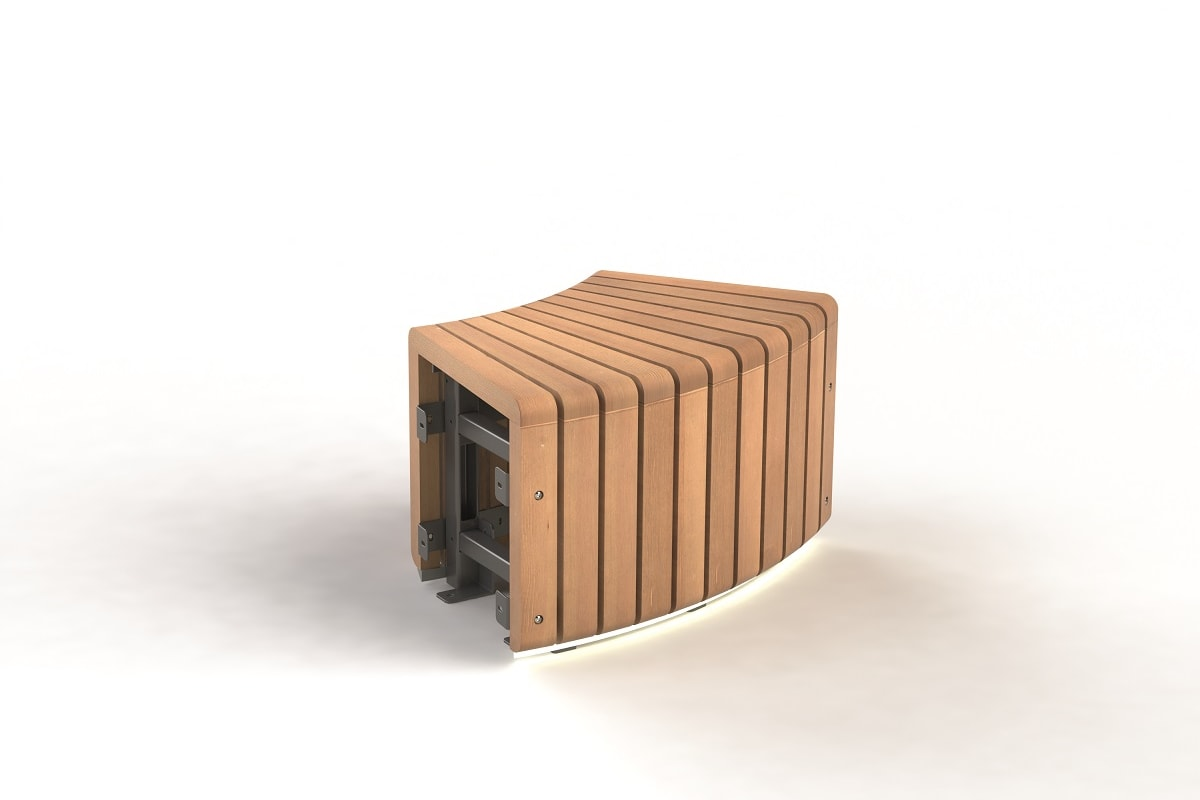 natural elements - 45 radius bench module