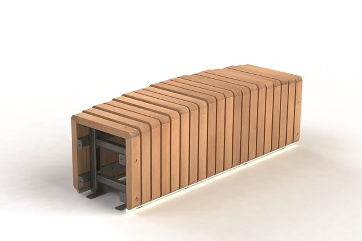 natural elements - bench module convex