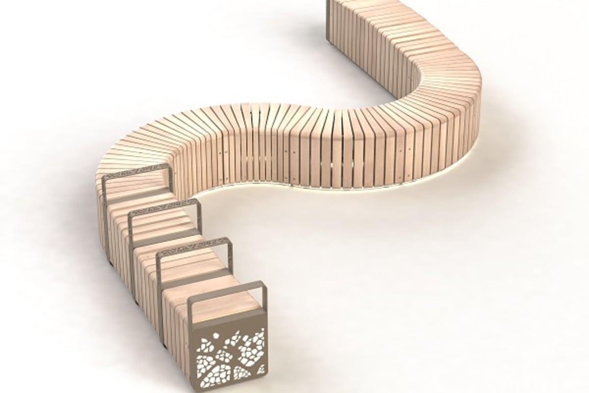 natural elements - s shape configuration