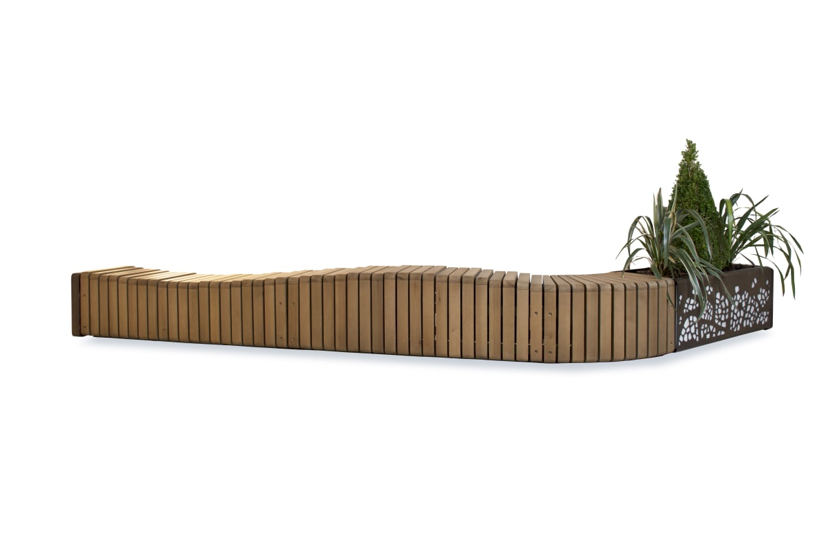 natural elements - wave effect bench configuration
