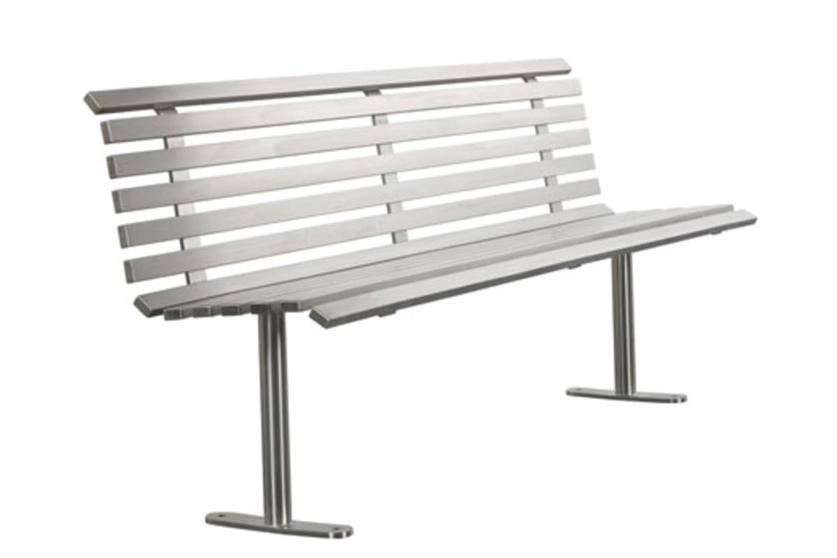 ollerton academy seat in stainless steel