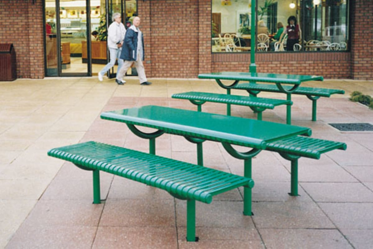ollerton festival picnic table in steel