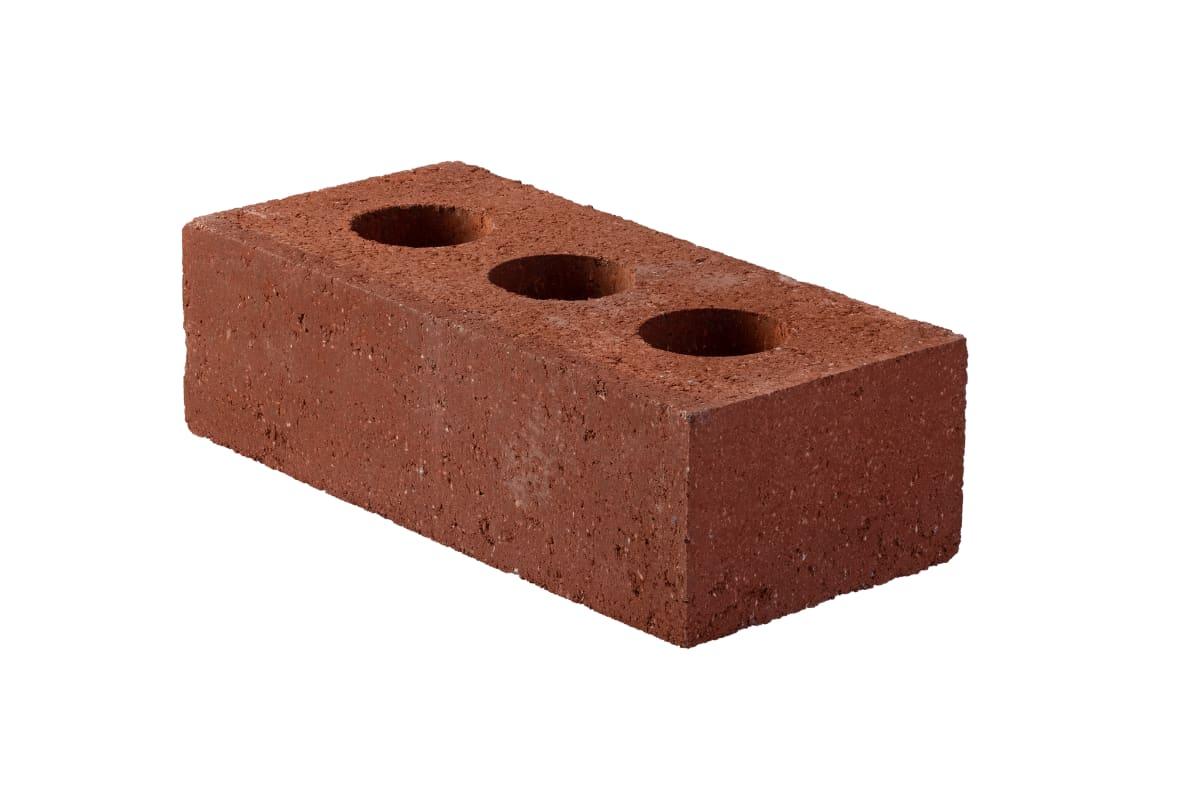 perforated engineering brick - red
