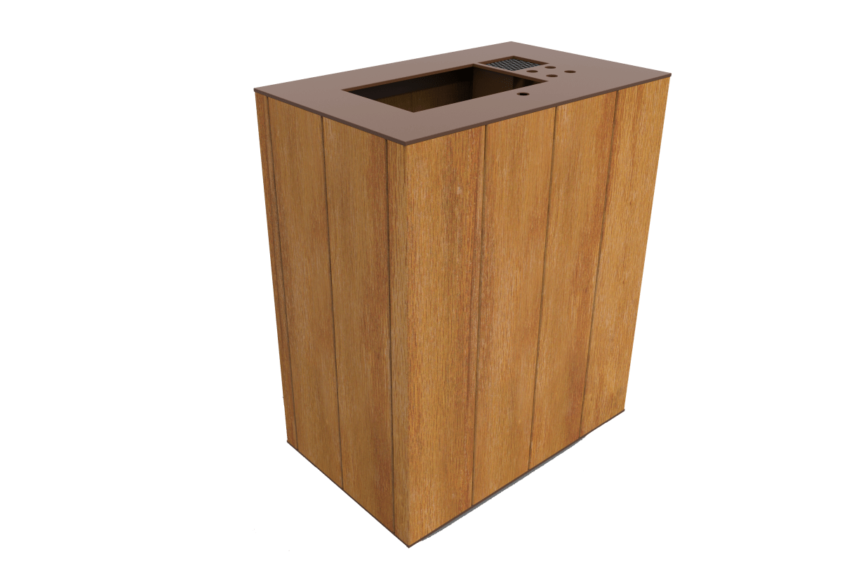 plaza litter bin