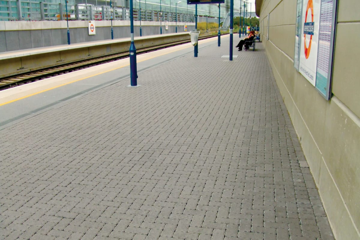 priora permeable paving natural shepherds bush station