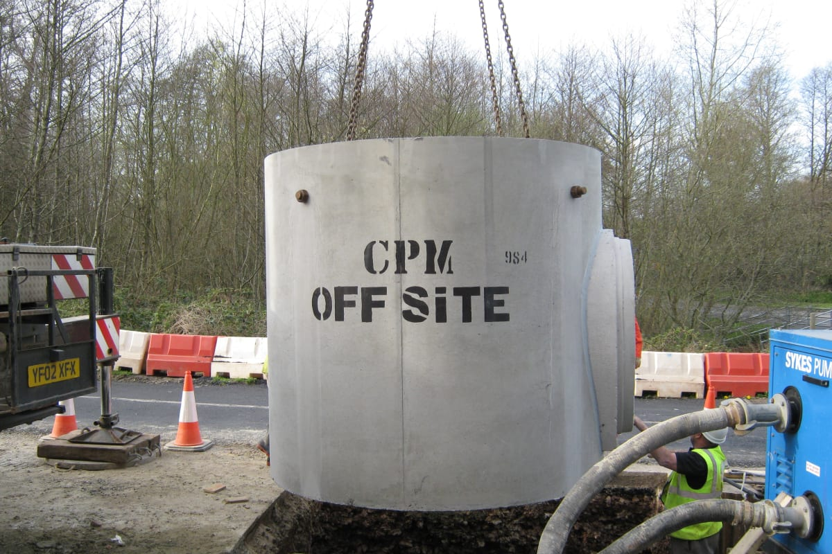 pump and wet well chamber