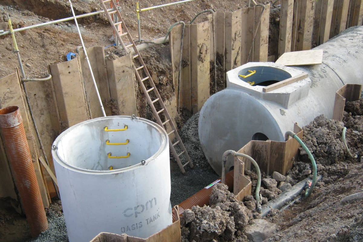 pumping station storage tank
