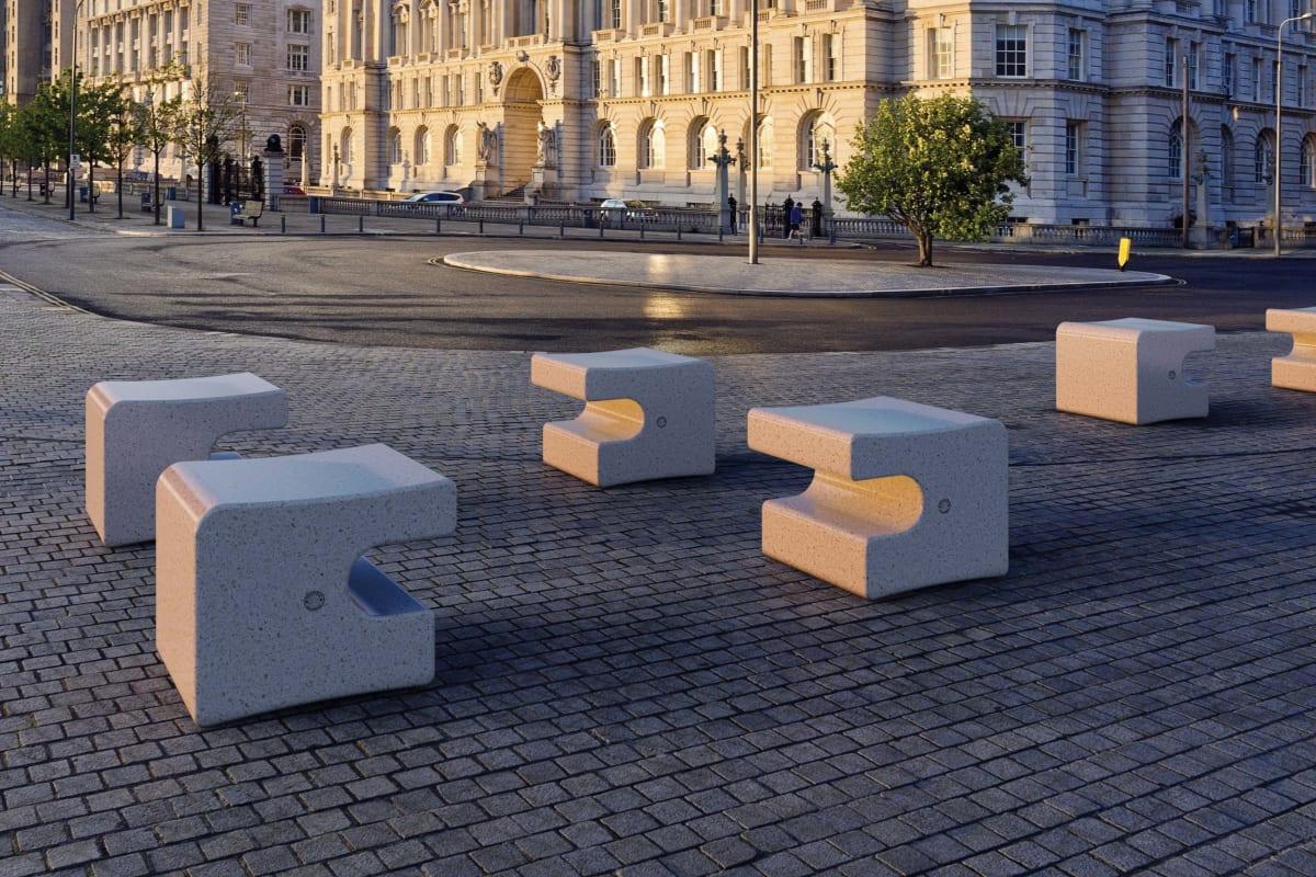 quadro precious stone stool
