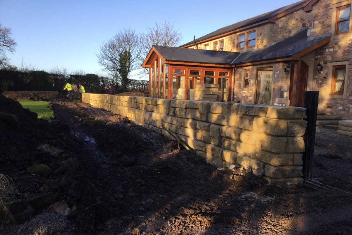 redi rock flood wall protection private development
