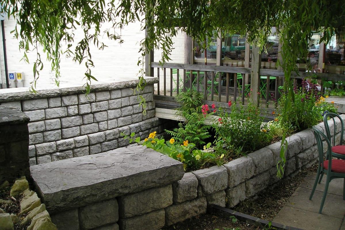 redi rock freestanding wall