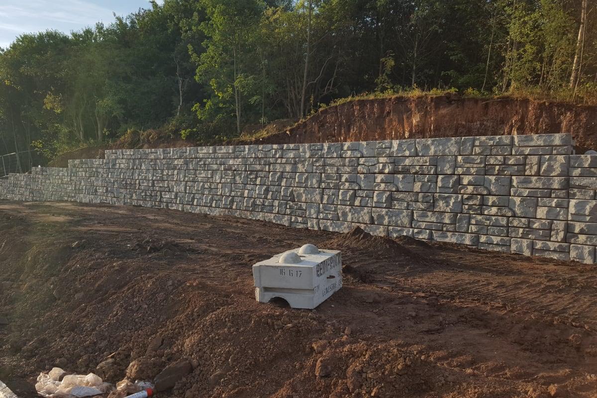 redi rock landscaping walls installation