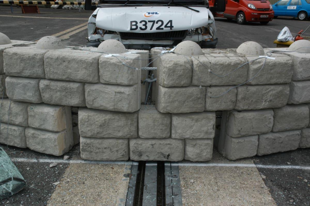 redi rock security walls testing