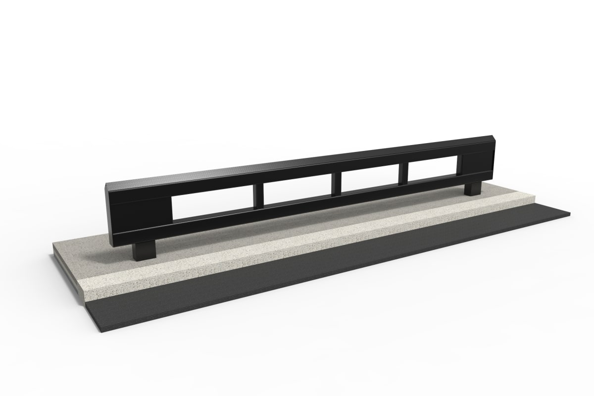 rhinoguard beam - powder coated mid steel ral 9005