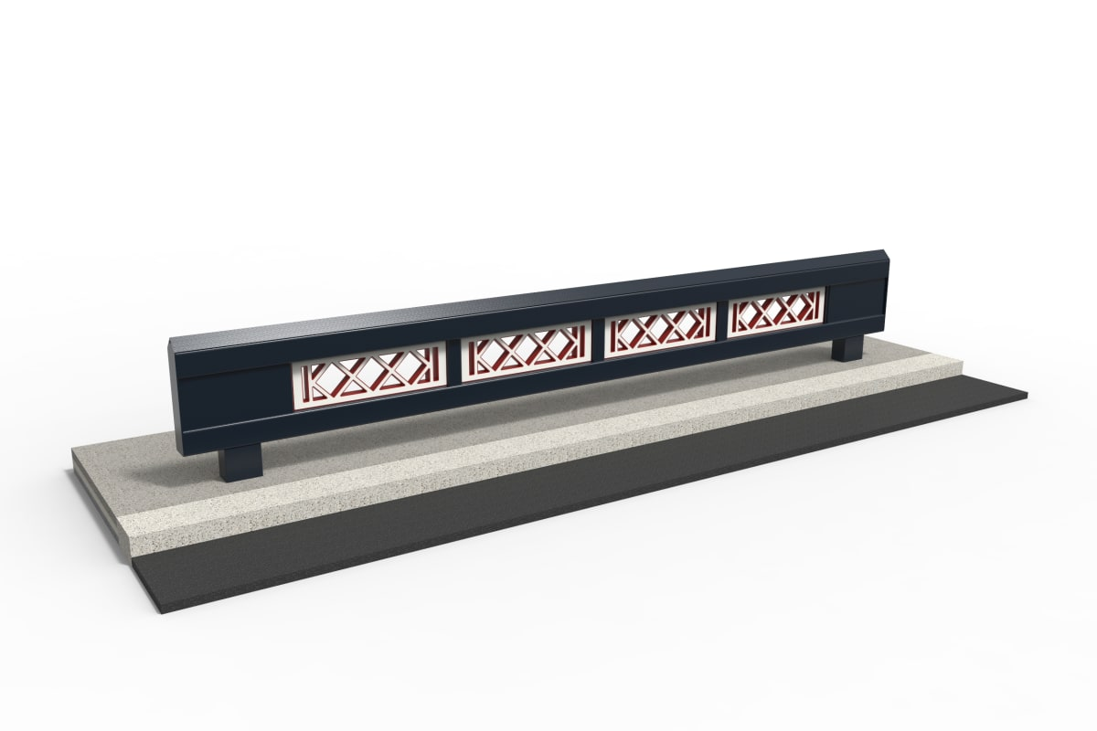 rhinoguard beam - bespoke powder coated mild steel & ferrocast