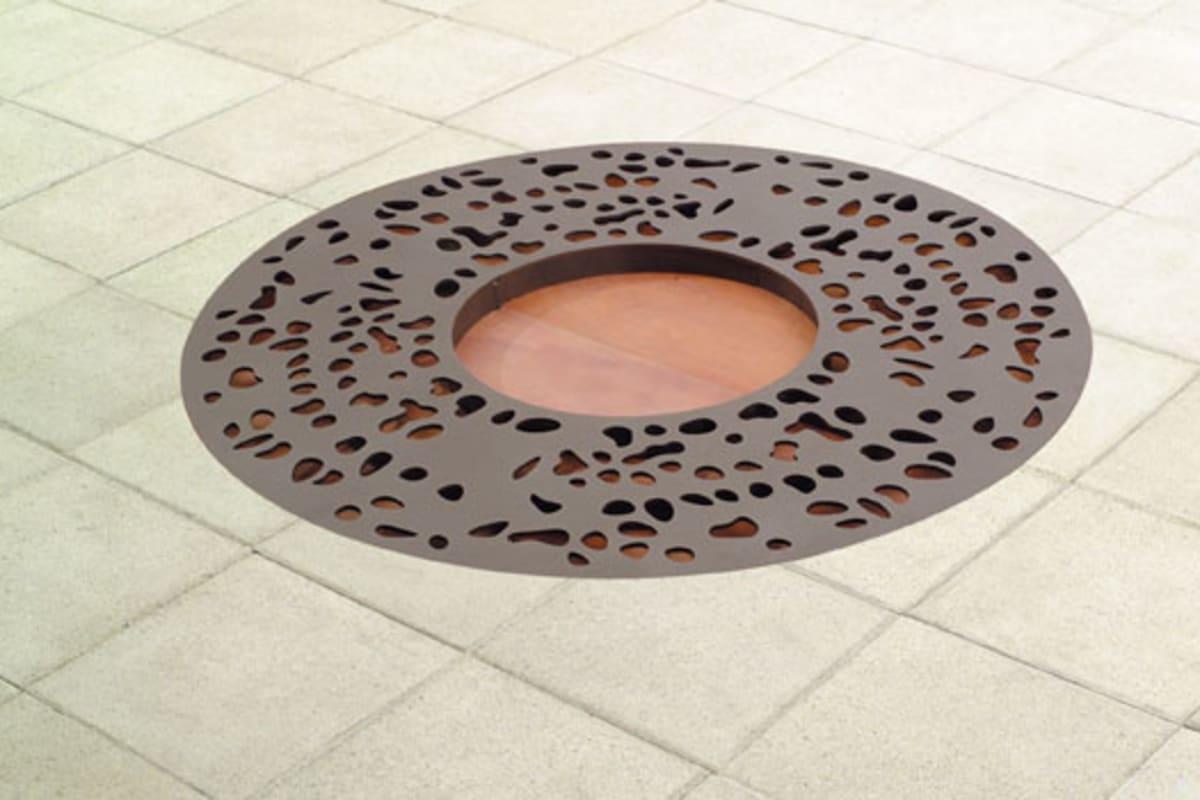 sineu graff pebbles round steel tree grille