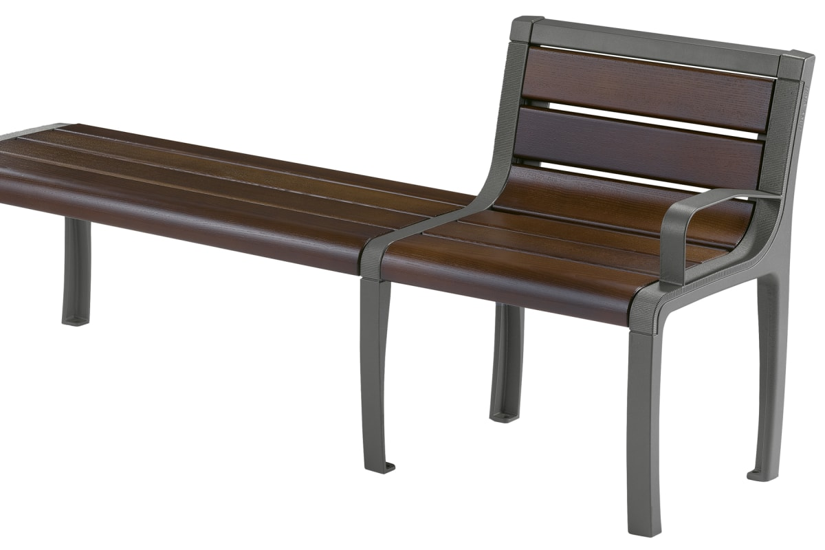 sineu graff twist three place bench and chair with steel armrest