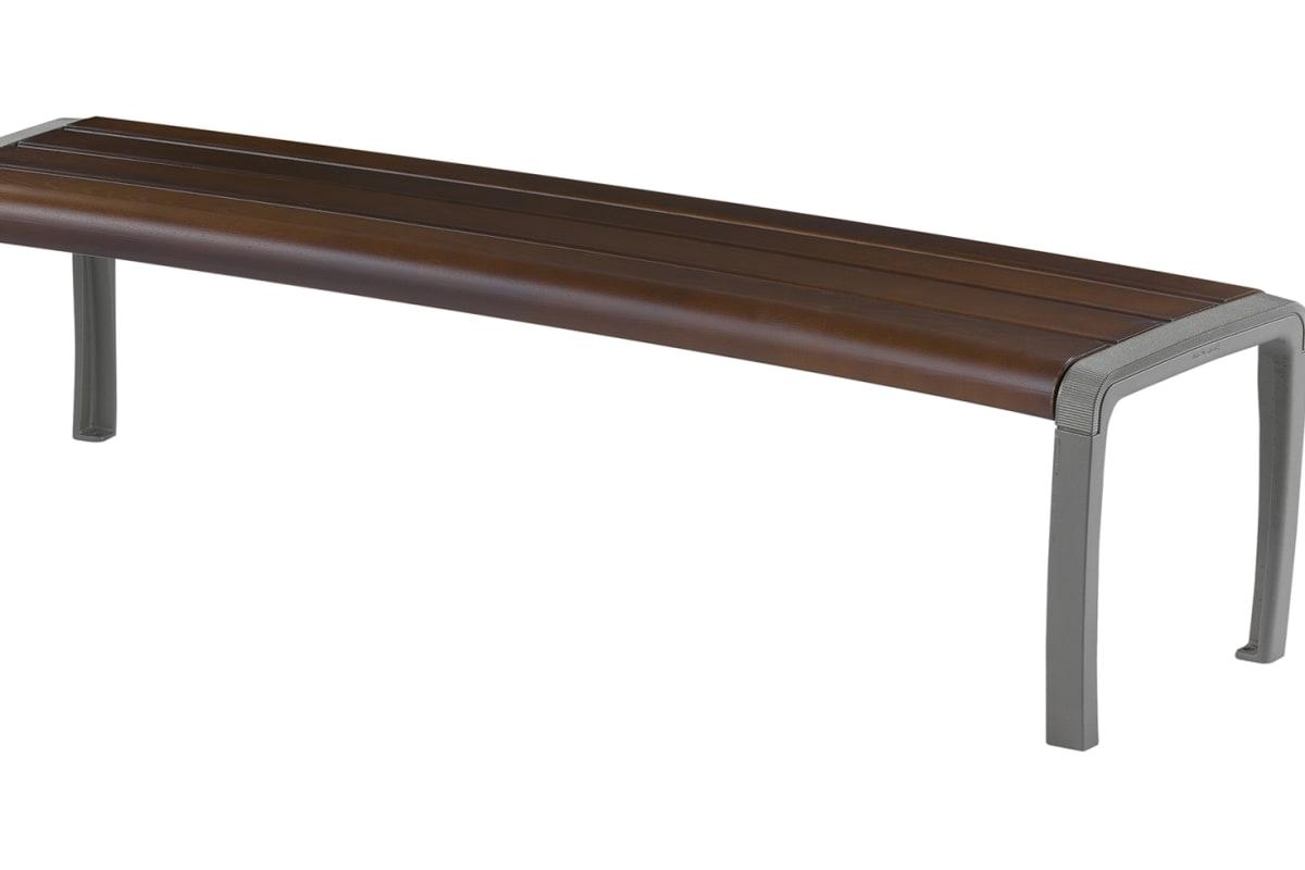 sineu graff twist three place curved bench