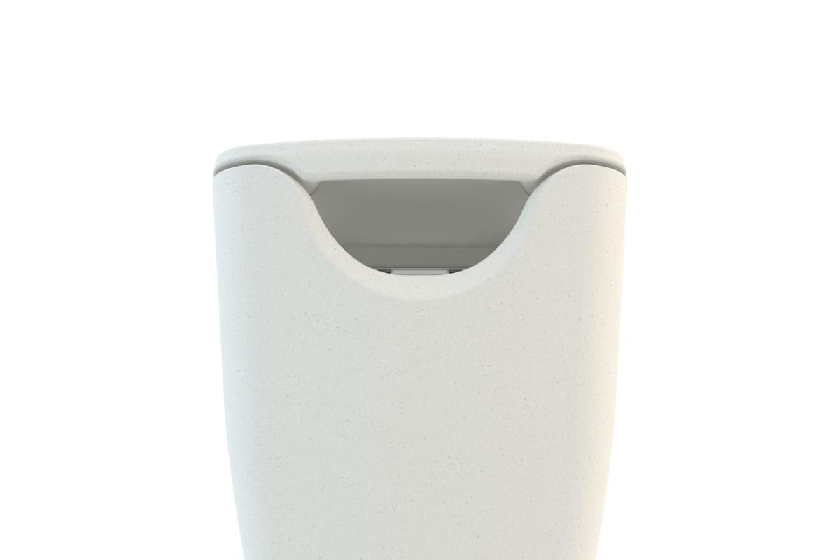 spring litter bin in white
