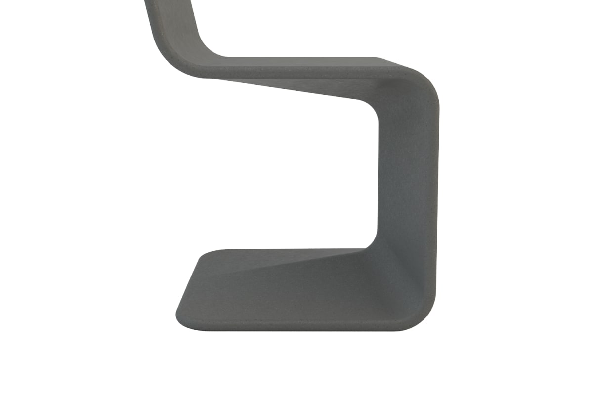 spring seat in charcoal grey