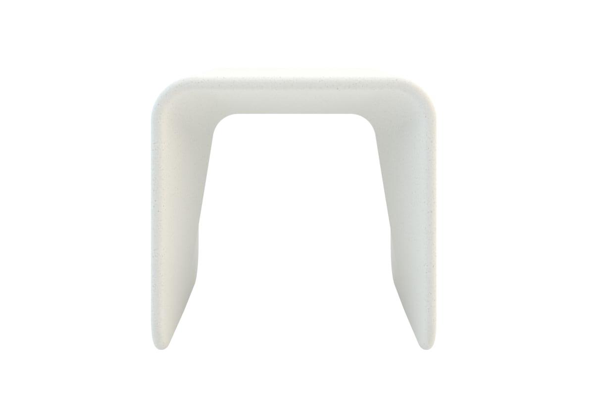 spring stool in white