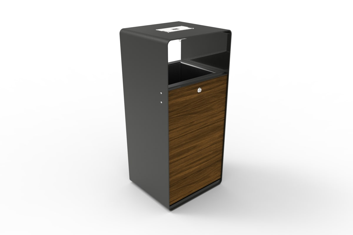 stratic litter bin - copper and carbon