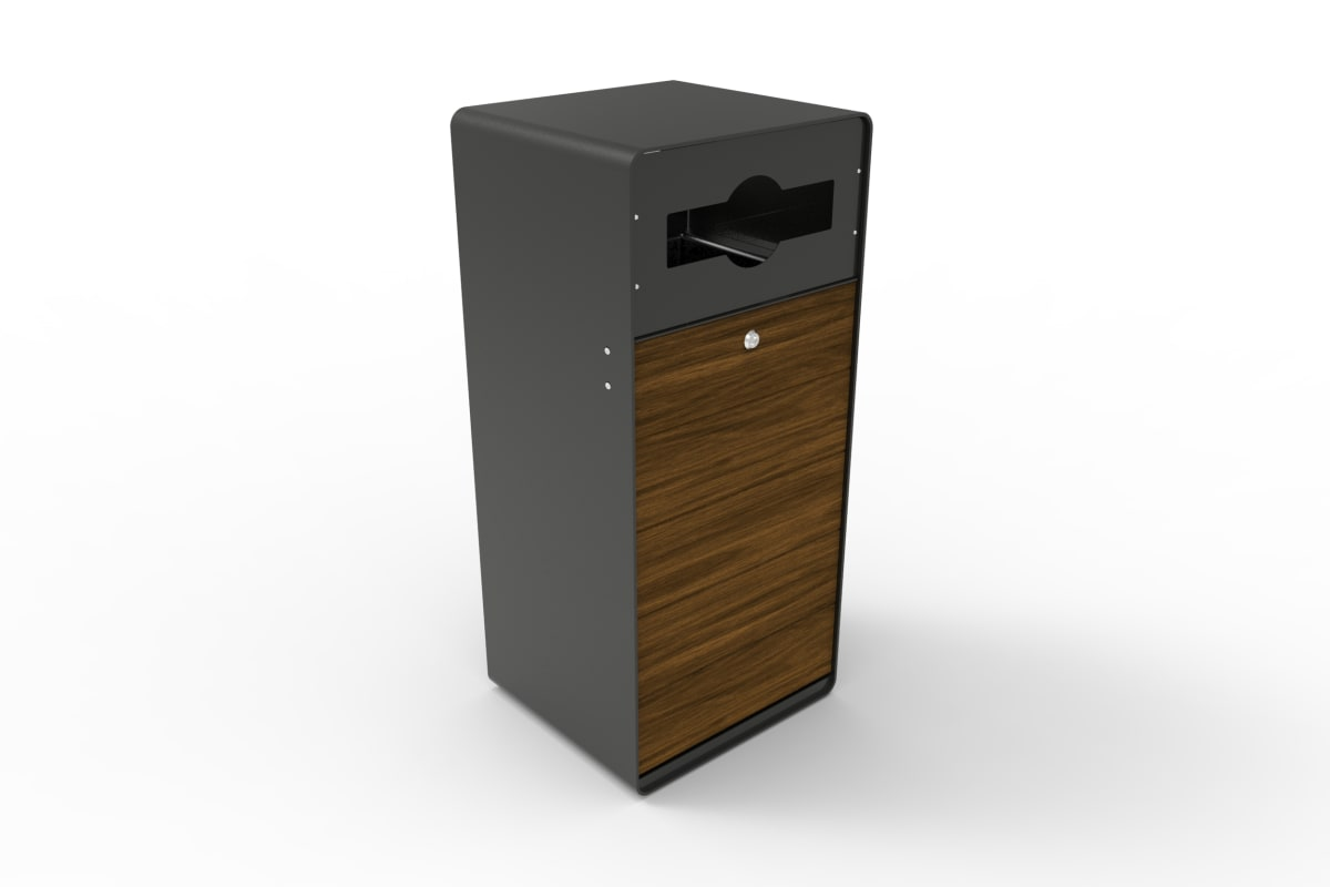 stratic mixed recycle litter bin - copper and carbon