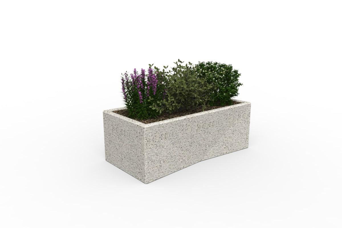 tenplo planter blok - silver grey