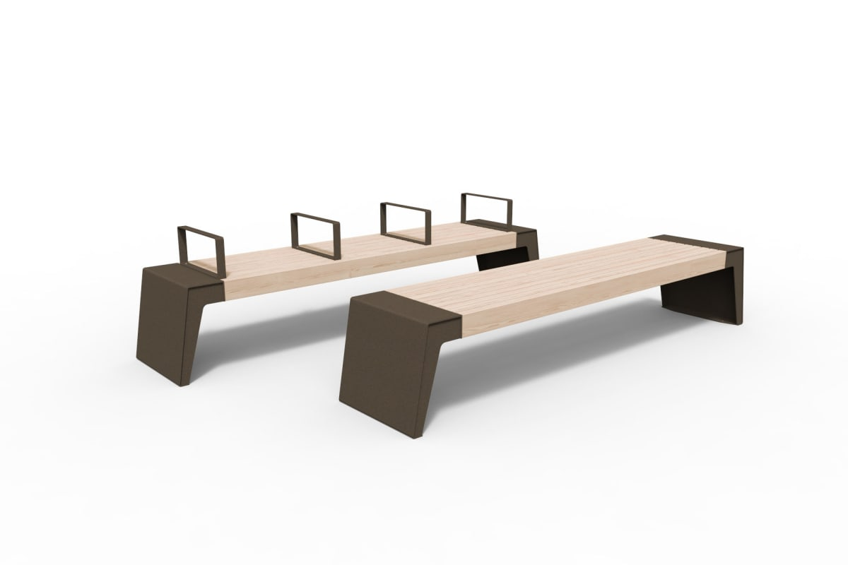 urbain benches in bronze