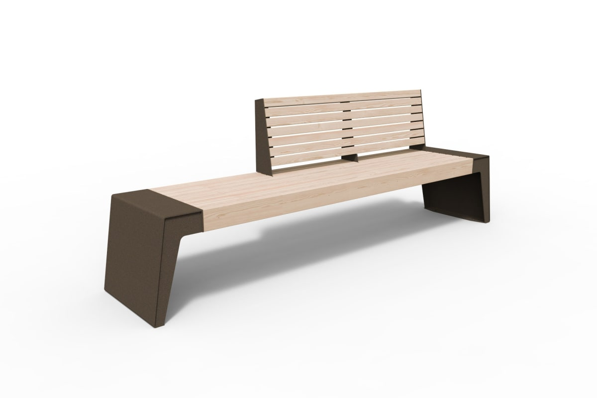 urbain seat with double backrest in bronze